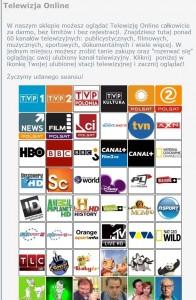 il: tinyprice.pl nie iest oszustem. Każdy użytkownik może naprawdę oglądać za darmo jeden z 60 programów telewizyjnych (źródło: tinyprice.pl)