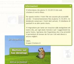 Cricetare Caput 20131007 informacja ze strony