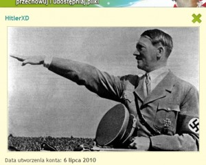 """il: awatar jednego z ponad 200 chomikowych kont ze słowem """"Hitler"""" w nazwie. (źródło: chomikuj.pl)"""