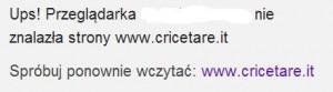 Od 1 listopada nie można już połączyć się z www.cricetare.it