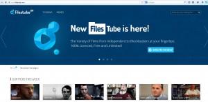 Rewolucyjne, niezależne i niszowe kino online Filestube - fragment głównej strony serwisu, 1 grudnia 2014 roku. (źródło: filestube.to)