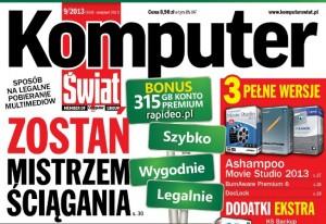 fragment okładki miesięcznika KomputerŚwiat 9/2013 - (źródło: kplus.komputerswiat.pl)