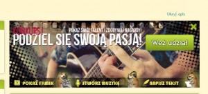 Banner reklamujący konkurs na portalu Chomikuj.pl (źródło: chomikuj.pl)