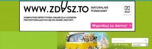 Reklama Wydawnictw Szkolnych i Pedagogicznych, która pojawiła się 28 sierpnia 2014 roku na stronach portalu Chomikuj.pl (źródło: chomikuj.pl).